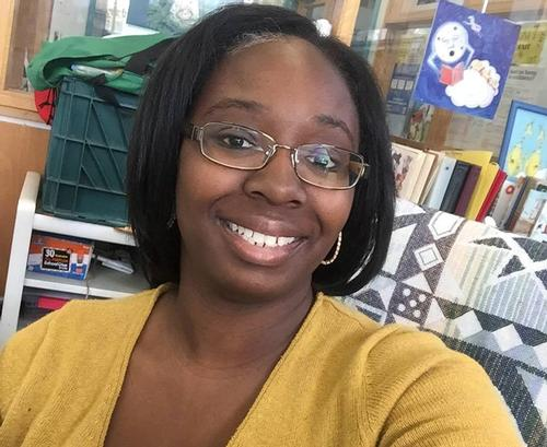Christina Holmes, Head of the Children's Department at the Lucien E. Blackwell West Philadelphia Regional Library