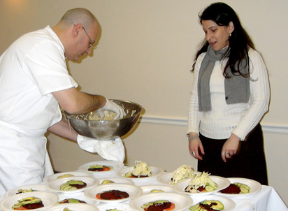Chef Pernot Shares Culinary Tips with Stacy Schulist, Director of Marketing at Cuba Libre