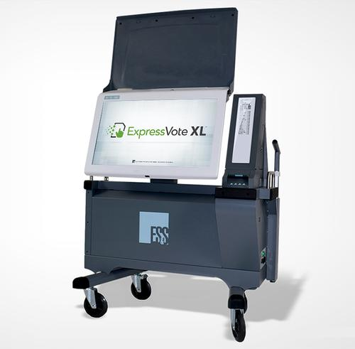 The new ExpressVote XL touchscreen voting machine, which will be used in Philadelphia for the upcoming November 2019 General Election.