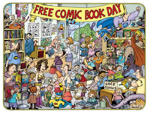 Free Comic Book Day illustration by Sergio Argones