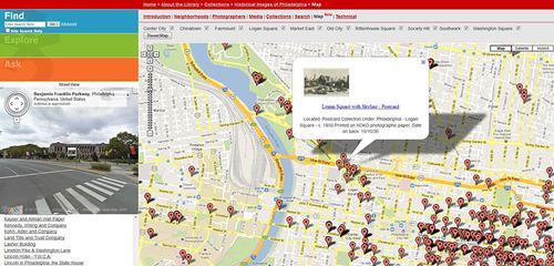 Historical Images of Philadelphia Map