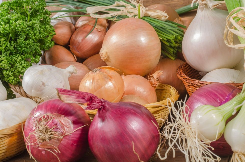 Onions are part of the allium family!
