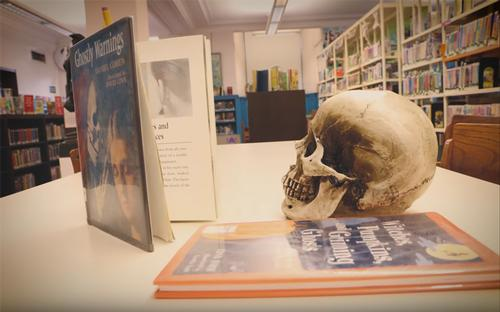 This skull has a library card. Do you?