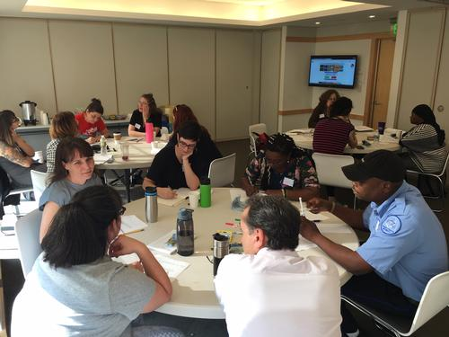 FLP staff learn together in the first training cohort