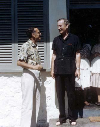 James Bond (left) and Ian Fleming at GoldenEye