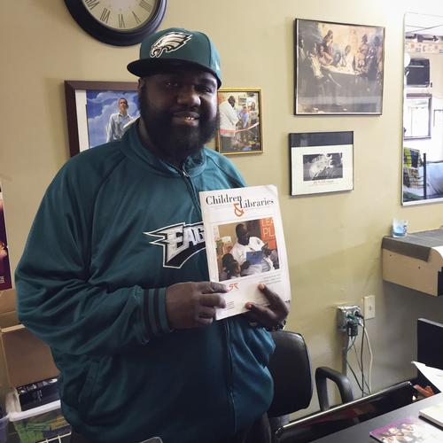 Jazz the Barber with his cover shot of Children and Libraries