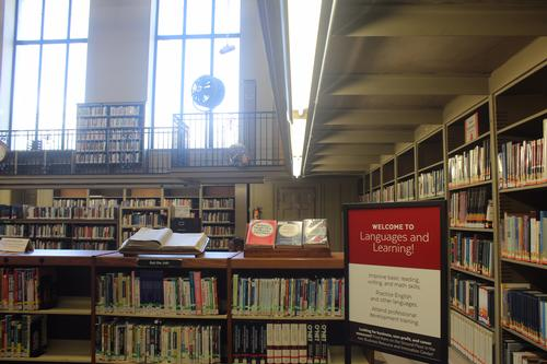 The Languages and Learning Center is located on the 2nd floor of Parkway Central Library