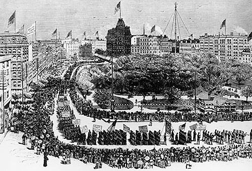 1st Labor Day Parade, Sept 5, 1882, NYC