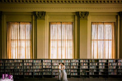 Happily Ever After... in the Stacks. Image credit: JPG Photography