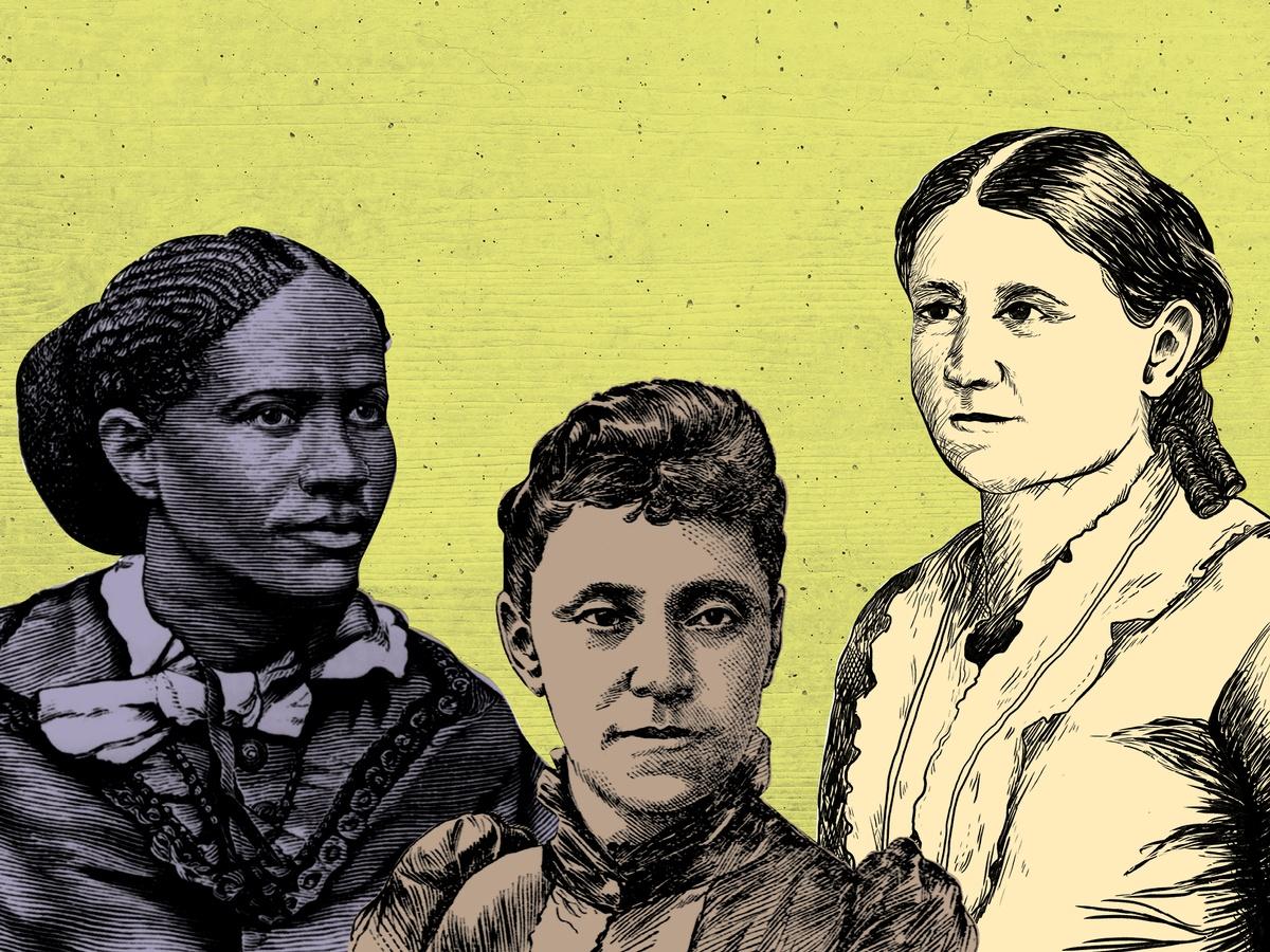 Frances Ellen Watkins Harper, Gertrude Bustill Mossell, and Carrie S. Burnham