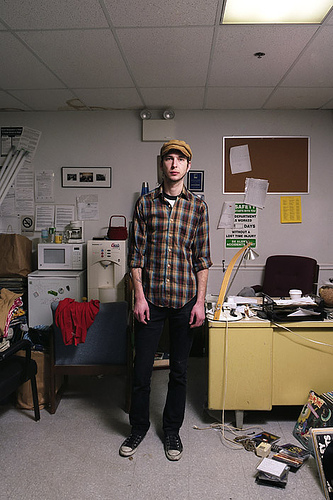 Jason (At Work Series), 2007, Dye Coupier Print by Manuel Dominguez Jr., currently on view at the Central Library