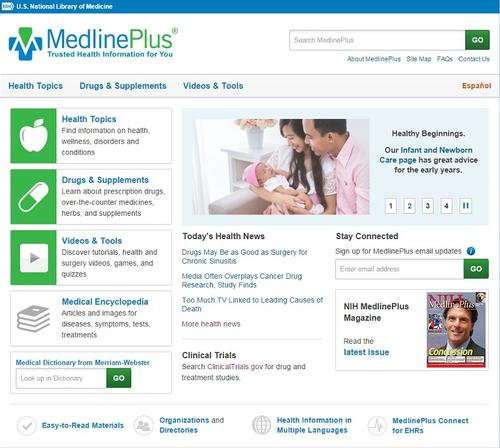 MedlinePlus offers patients information on doctors, diseases, treatments, and much more.