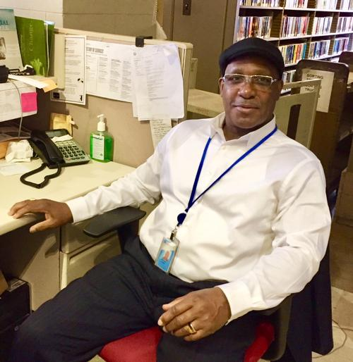 Michael Rabb has spent four years working with patrons in need at the Free Library.