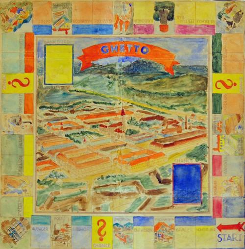 Monopoly, Theresienstadt by Oswald Pöck, born October 2, 1893-perished at Auschwitz