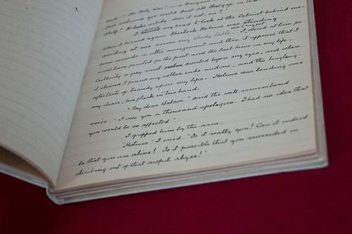 Arthur Conan Doyle's handwritten copy of