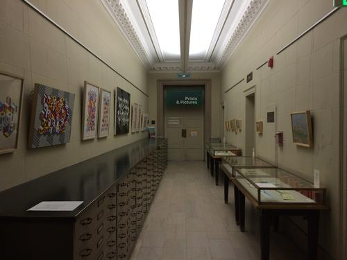 Gerard Brown and Amanda D'Amico in the Print and Picture Collection Hallway Gallery