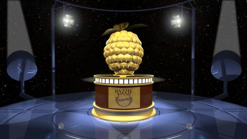The Golden Razzpberry Award, awarded annually to the Best of the Worst films released each year.