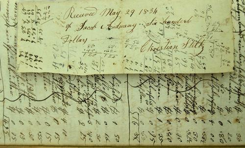 Anthony Grist Mill Purchase Receipt, 1834 Courtesy: Free Library of Philadelphia