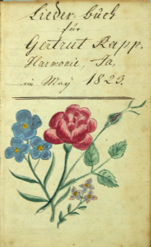 Gertrude Rapp Liederbuch: Bookplate