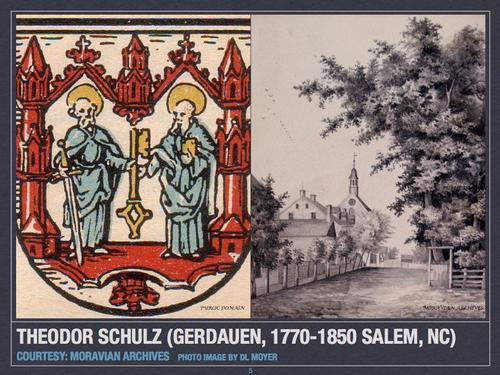 Theodor Schulz (Gerdauen, 1770-1850, Salem, NC