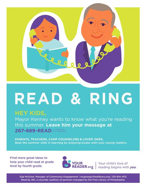 Read and Ring Mayor Kenney and tell him about your favorite books!