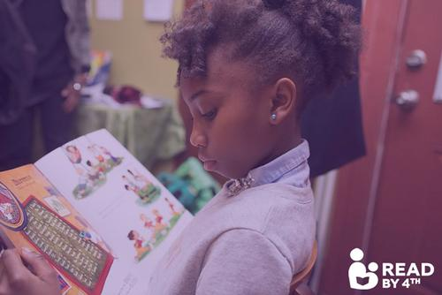 Read by 4th is a citywide campaign bringing together an ever-growing coalition of partners to double the number of children reading at grade level by the start of 4th grade.