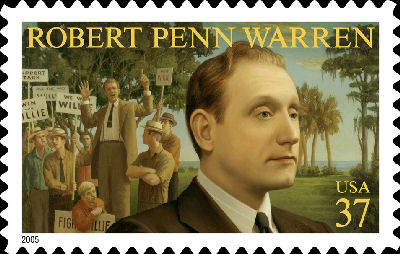A United States postage stamp featuring Robert Penn Warren