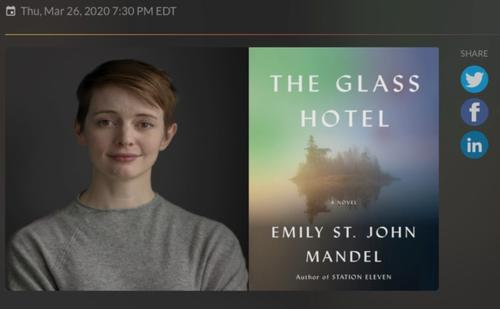 Image of Emily St. John and Book cover