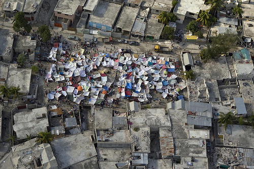 Tents in a Haitian Neighborhood
