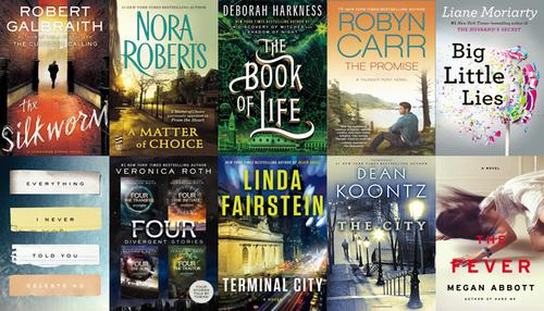 Top 10 ebooks OverDrive Digital Library July 2014