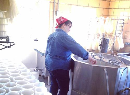 Stefanie Angstadt of Valley Milkhouse Creamery in Oley, PA.
