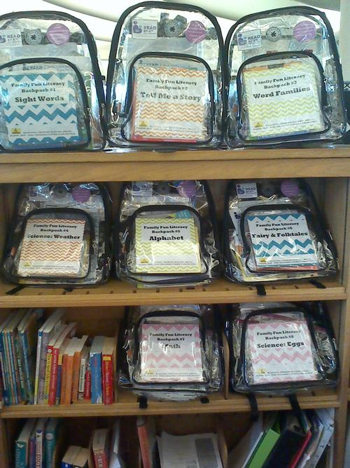 Eastwick Neighborhood Library Family Fun Literacy Backpacks