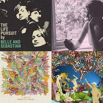 Albums by Belle and Sebastian and Of Montreal.