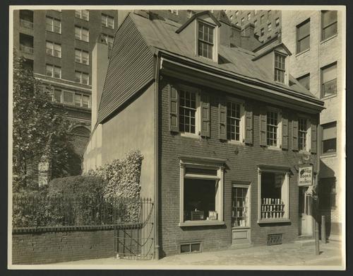 Exterior of the Centaur Book Shop at 206 South Juniper Street. Milton R. Holmes, 1930s. Rare Book and Manuscript Library, University of Pennsylvania