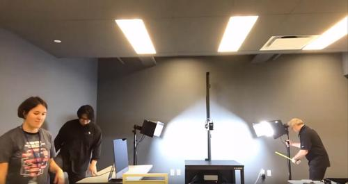 Setting up the Phase One camera system in the The Free Library's New Center for Digitization