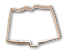 Use A Book-Shaped Cookie Cutter
