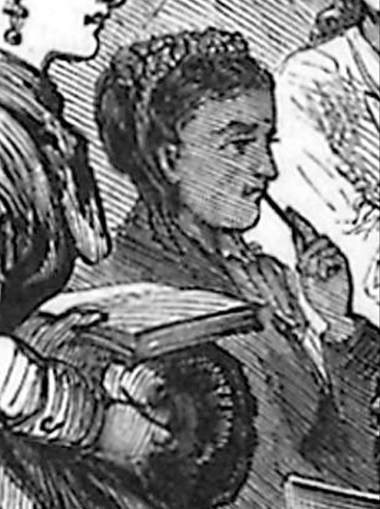 "According to Villanova University's Falvey Memorial Library ""This is most likely a sketch of Rebecca Cole, the only known image of her. This image was part of a sketch of a medical lecture that appeared on April 16, 1870 in Frank Leslie's Illustrated Newspaper."" Source: Library of Congress"