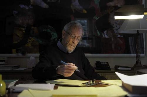 Elmore Leonard Writing at His Desk