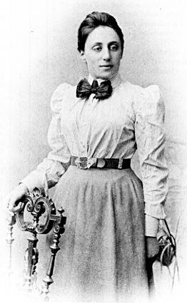 Emmy Noether as a young woman