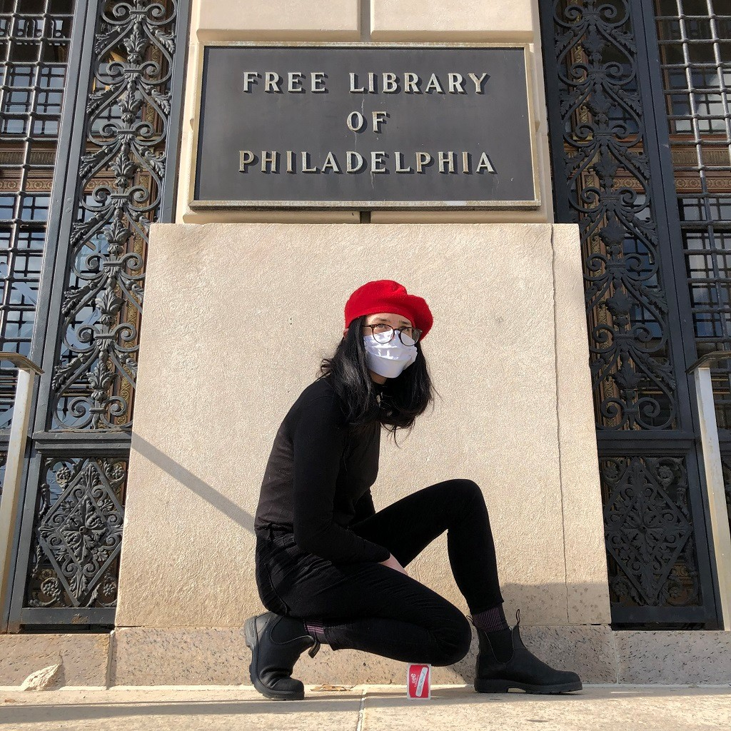 Beth Heinly, Free Library Card One Minute Sculpture after Erwin Wurm