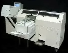 An On Demand Books company photo of the alpha version of the Espresso Book Machine.
