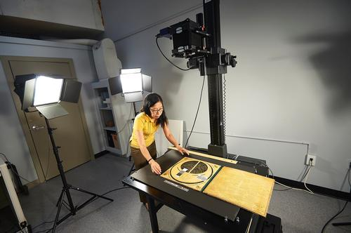 The Collection Care department handles the preservation, conservation, and digitization of Free Library materials.