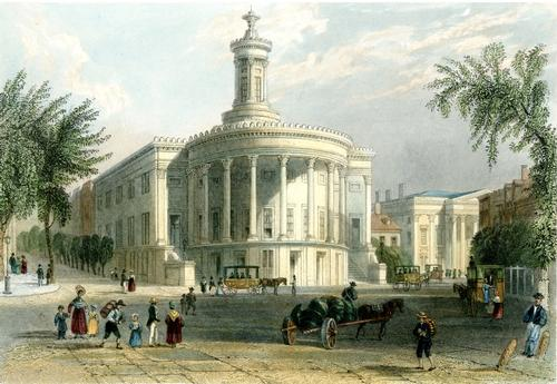 William H. Bartlett, The Exchange and Girards Bank, 1839