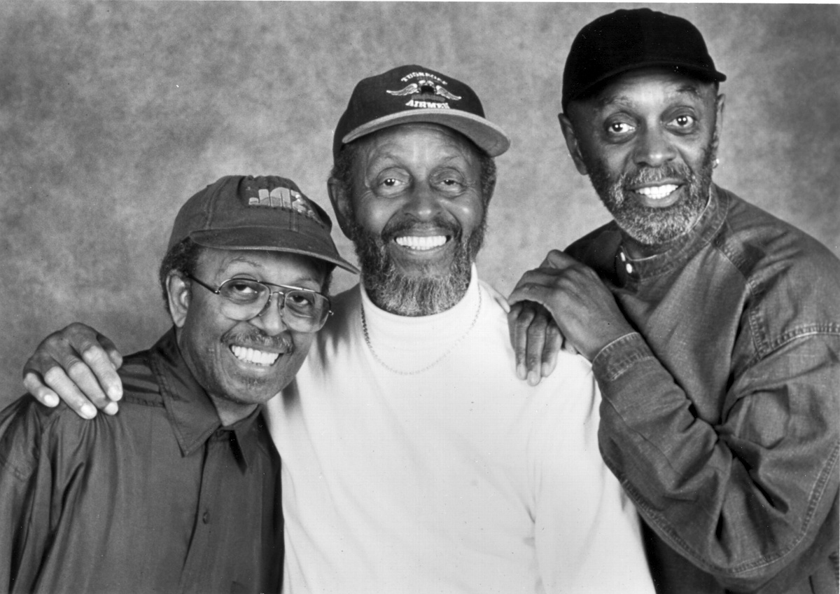 [from left] Jimmy Heath (1926-2020), Percy Heath (1923-2005), and Albert