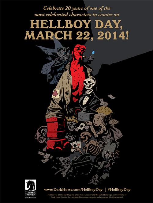 Celebrate 20 years of Hellboy on March 22, 2014!