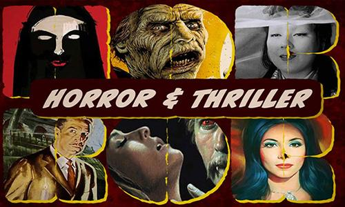 collage of horror and thriller movies