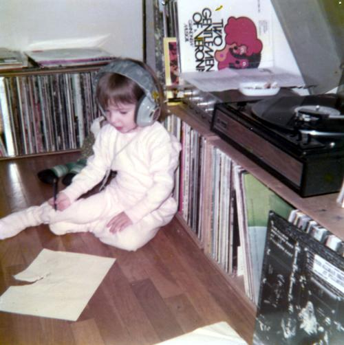 Me rocking out in 1971.