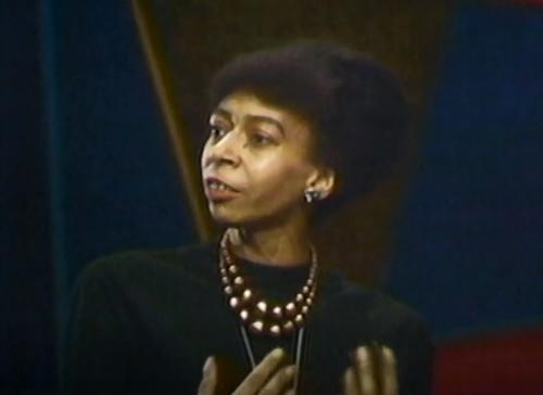 Marion Stokes as a guest on her own program, <i>Input</i>