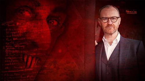 Writer, actor, and director Mark Gatiss visited The Rosenbach in June 2019 to shoot scenes for his new documentary, <i>In Search of Dracula</i>.