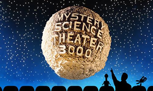 mystery science theater 300 moon with man and robot puppets